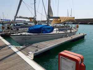 Fernansicht Backbord Schiff Lagertha