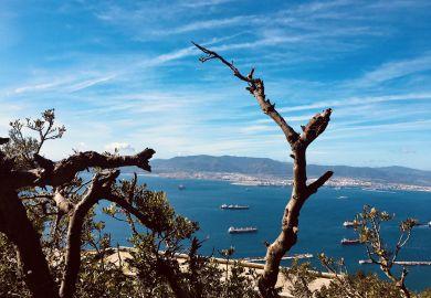 Aussicht auf Bucht von Gibraltar