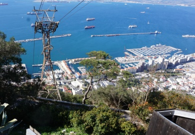 Seilbahn Gibraltar Affenfelsen