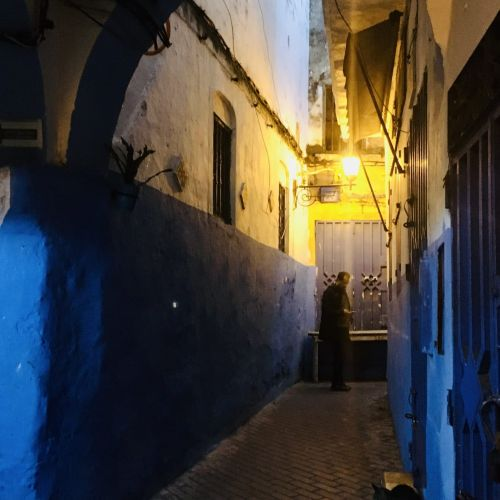 Blaue Gasse in der Medina