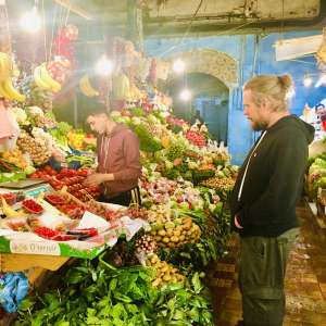 Markthalle Tanger Obststand