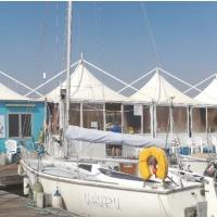 Hafenbüro Zelt Marina del Sole Sardinien