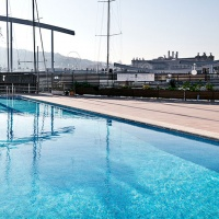 Poollandschaft Marina Reial Club Maritim Barcelona
