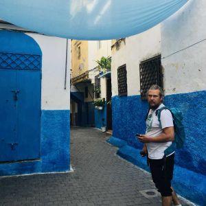 blaue Gasse Kasbah Tanger