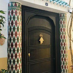 marokkanischer Hauseingang Mosaik