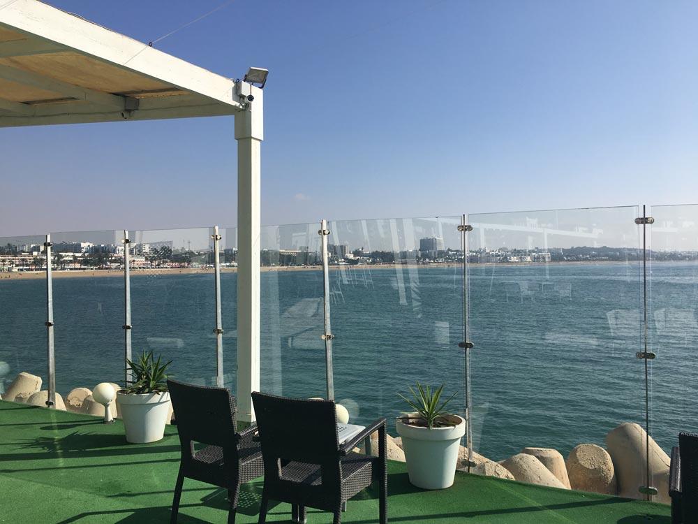 Aussicht auf den Strand von Agadir