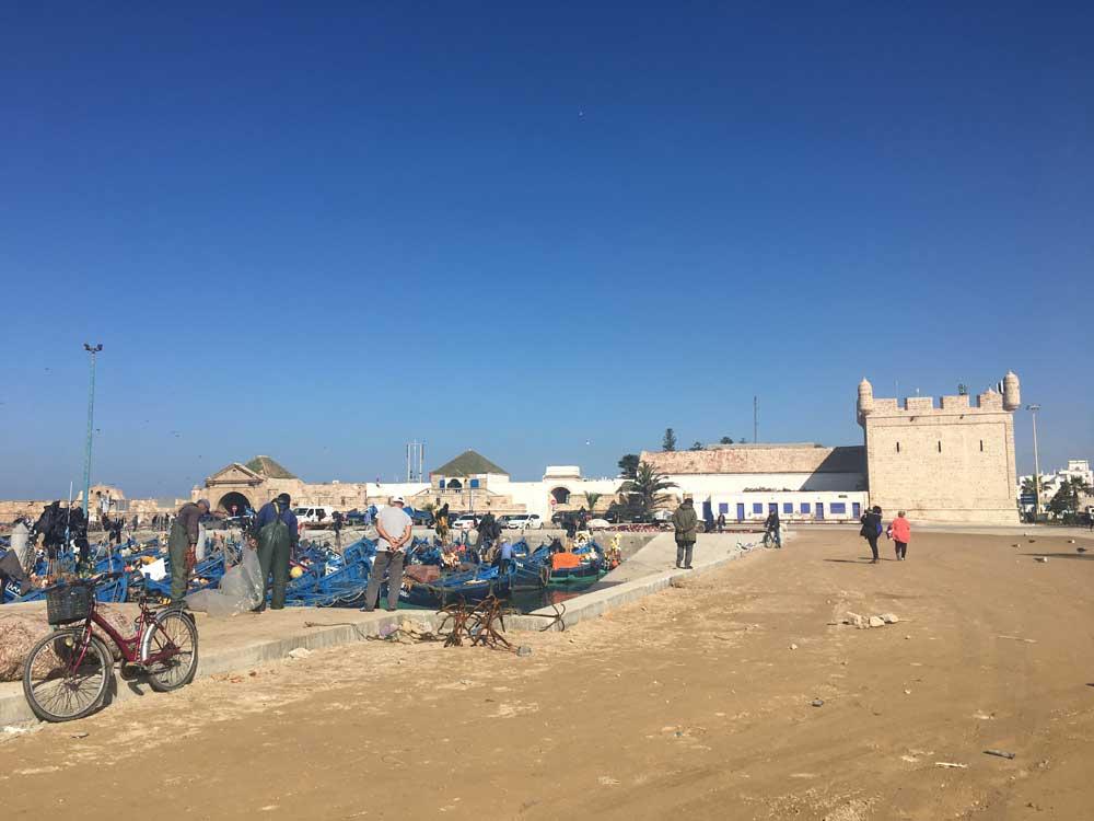 Hafengebäude in Essaouira
