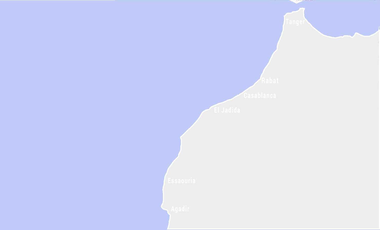 Landkarte marokkanische Atlantikküste