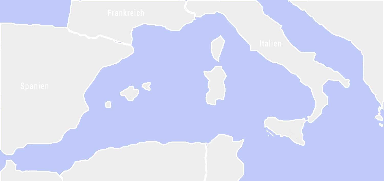 Landkarte Mittelmeer