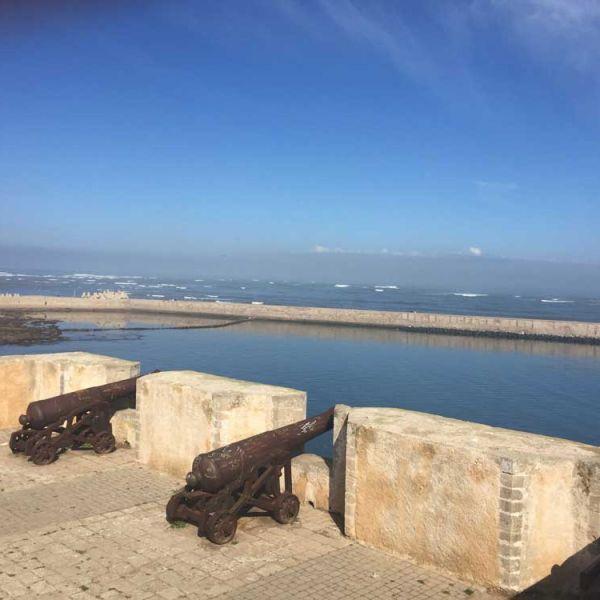 Meerblick auf der Mazagan-Festungsmauer in El Jadida Marokko
