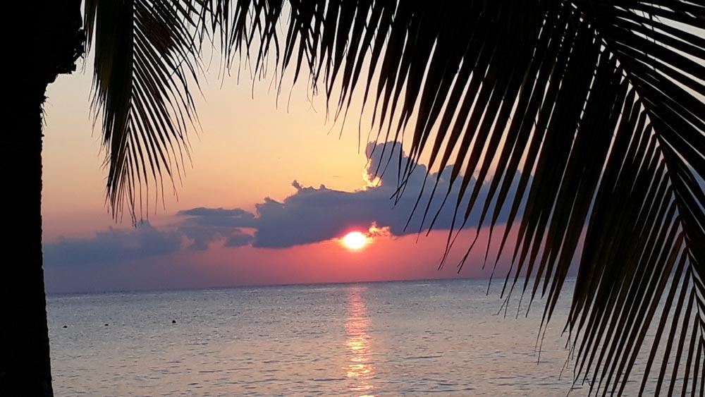 Sonnenuntergang auf Cozumel in Mexiko