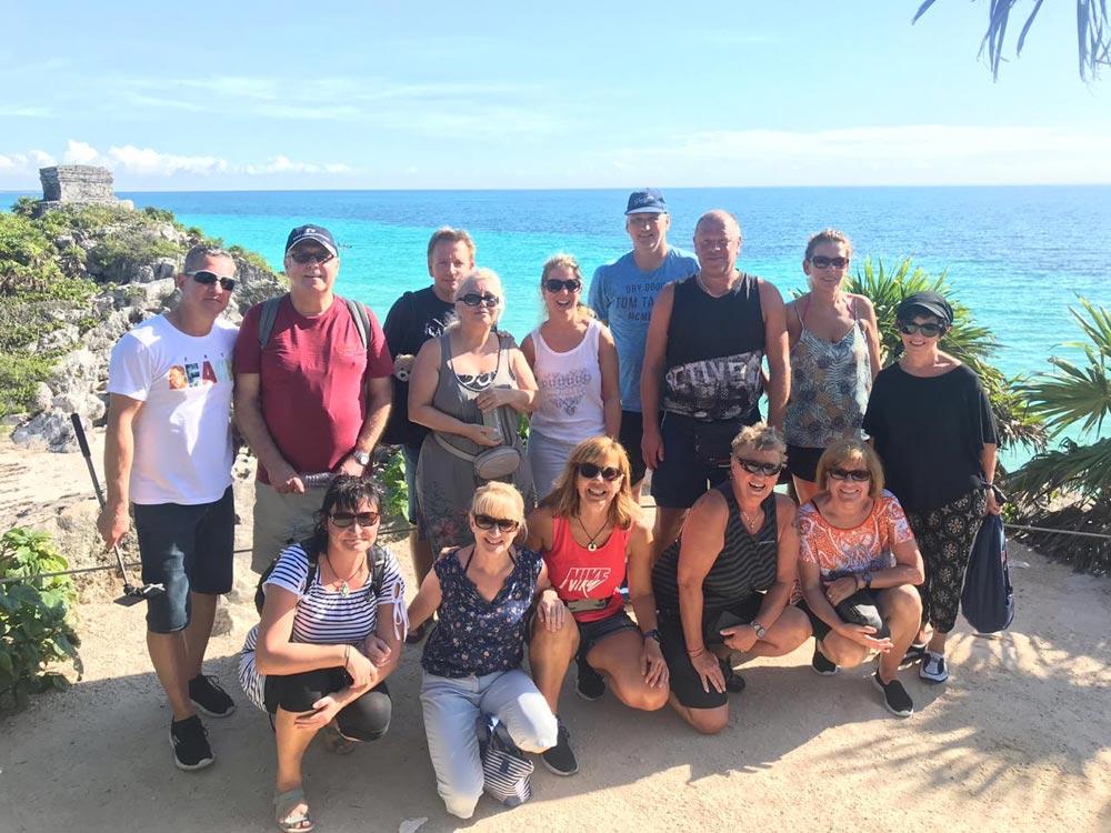 Tourgäste bei Leon Tours auf Cozumel